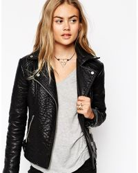 ASOS - Black Big Open Triangle Necklace - Lyst