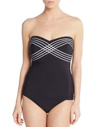 Gottex - Black Convertible Strapless Two-piece Tankini Swimsuit - Lyst