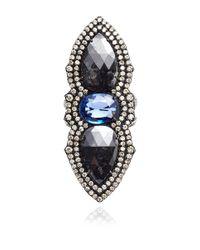 Gioia   Sapphire  Black Diamonds Ring   Lyst