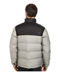 The North Face - Gray Nuptse Jacket for Men - Lyst