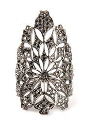 Gaydamak | Metallic Flower Embellished Ring | Lyst