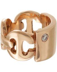Hoorsenbuhs - Metallic Id Plate Ring - Lyst