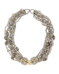 Alexis Bittar | Metallic Double-padlock Chunky Bib Necklace | Lyst