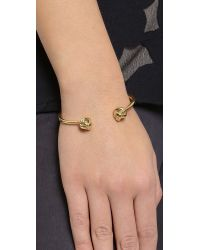 kate spade new york   Metallic Dainty Sparklers Knot Bracelet - Gold   Lyst