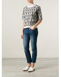 Milano Parigi - Gray Patterned Sweater - Lyst