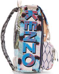 KENZO - Multicolor Peach Signature Prints Urban Backpack - Lyst
