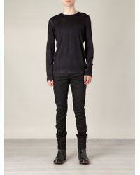 Avant Toi - Black Distressed Sweater for Men - Lyst