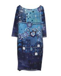 Alberta Ferretti - Blue Short Dress - Lyst