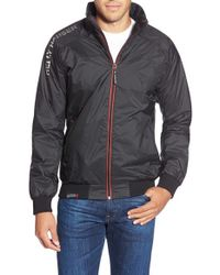 Helly Hansen | Black 'shore' Regular Fit Zip Front Jacket for Men | Lyst