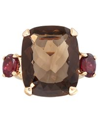 Dinny Hall | Metallic Smoky Quartz Trinity Ring | Lyst