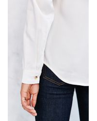 BDG | White Surplice-front Top | Lyst