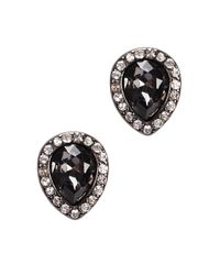 Kenneth Jay Lane - Black Crystal And Faux Pearl Earrings - Lyst