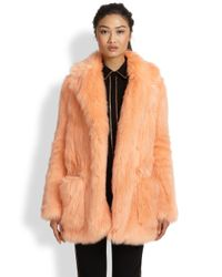 See By Chloé - Pink Faux Fur Coat - Lyst