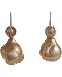 Anaconda | Metallic Drop Earrings | Lyst