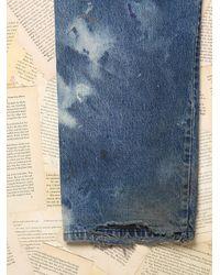 Free People - Blue Womens Vintage Paint Splattered Dickie'S Denim Pants - Lyst