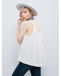 Free People - White We The Free Kitten Tank - Lyst