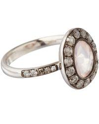 Annoushka - White Gold Rose Quartz Dusty Diamonds Ring - Lyst