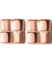 Links of London - Metallic Cubist Rose Gold Vermeil Stud Earrings - Lyst