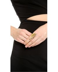 Rachel Zoe | Metallic Safari Cutout Ring - Gold | Lyst