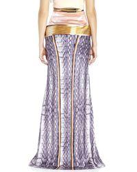 Mary Katrantzou - Purple Printed Silk Maxi Skirt - Lyst