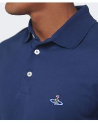 Vivienne Westwood | Blue Orb Polo Shirt for Men | Lyst