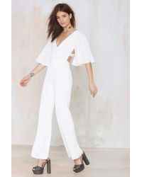 Nasty Gal | White Lovers And Friends Star Gazer Jumpsuit | Lyst