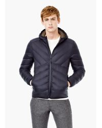 Mango - Gray Quilted Feather Coat for Men - Lyst