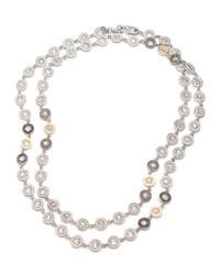 Coomi - Metallic Opera Crystal & Diamond Long Necklace - Lyst