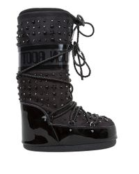 Jimmy Choo - Black Grove Shearling-trimmed Snow Boots - Lyst
