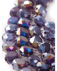 Night Market | Purple 'crystal Rain' Bib Necklace | Lyst