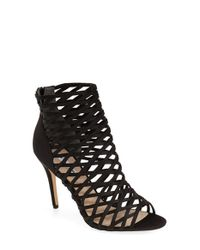 Nina Black 'cypress' Caged Sandal