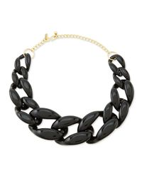 Kenneth Jay Lane - Black Link Necklace - Lyst