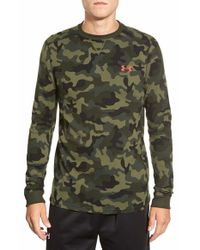 Under Armour Multicolor 'amplify Camo' Long Sleeve Thermal Moisture Wicking T-shirt for men