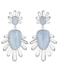 Kendra Scott | Blue Sterling Statement Drop Earrings | Lyst