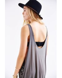Truly Madly Deeply - Natural Numeral Lines Tank Dress - Lyst
