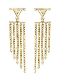 House of Harlow 1960 | Metallic Tres Tri Fringe Earrings | Lyst