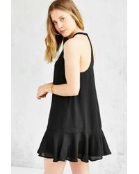 Lucca Couture - Black Drop-waist Shift Dress - Lyst