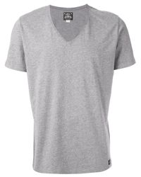 DIESEL - Gray V-Neck T-Shirt for Men - Lyst