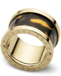Michael Kors | Metallic Heritage Acetate Ring - Ring Size O - M/l | Lyst
