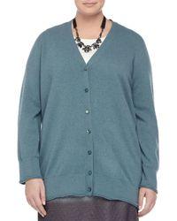 Marina Rinaldi - Blue Maggiore Wool-cashmere Long Cardigan - Lyst