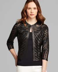Grayse - Black Scoop Chevron Leather Jacket - Lyst