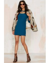 Nasty Gal | Blue Tied You Over Mini Dress | Lyst