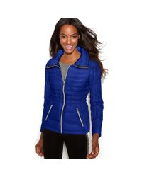 Guess | Blue Quilted Packable Puffer | Lyst