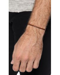 Caputo & Co. - Brown Easy Leather Bracelet for Men - Lyst