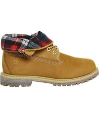 Timberland | Natural Authentics Leather Nubuck Roll Top Boots | Lyst