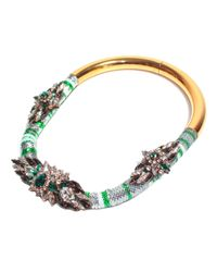 Shourouk | Green Mamba Emerald Necklace | Lyst