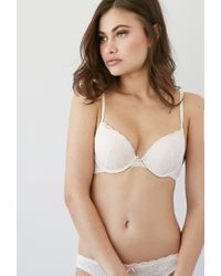 Forever 21 - Natural Floral Lace Push-up Bra - Lyst