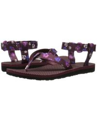 Teva | Purple Original Sandal Floral Satin | Lyst