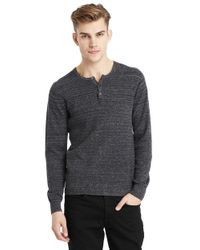 Kenneth Cole | Gray Heathered Thermal Shirt for Men | Lyst