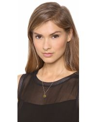 Sarah Chloe - Metallic Eva Engraved Pendant Necklace - S - Lyst